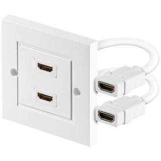 HDMI Wanddose 2 x HDMI A-Buchse