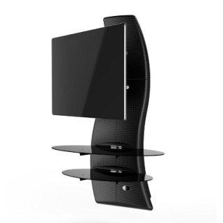 Meliconi Ghost Design 2000 Rotation (488088) (Karbon) TV Wandhalterung 81 - 160 cm