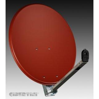 Gibertini OP 65 L 65cm Sat-Spiegel ziegelrot