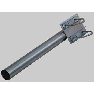 Geländer-mastverlängerung Ø 48 mm x 50 cm Stahl