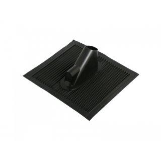 Alu Kunstsoff Dachpfanne schwarz 50x45cm vernietet mit Kabeldurchführung