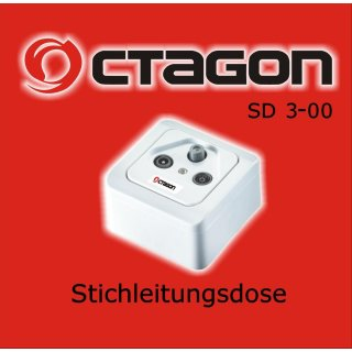 OCTAGON SAT-BK Antennendose 3-Loch Enddose SD 3-00