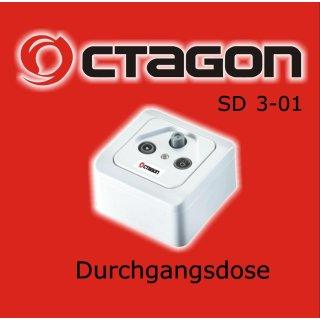 OCTAGON SAT-BK Antennendose 3-Loch Durchgangsdose SD 3-01